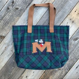 Mickey Mouse Disney Store Plaid Tote Bag